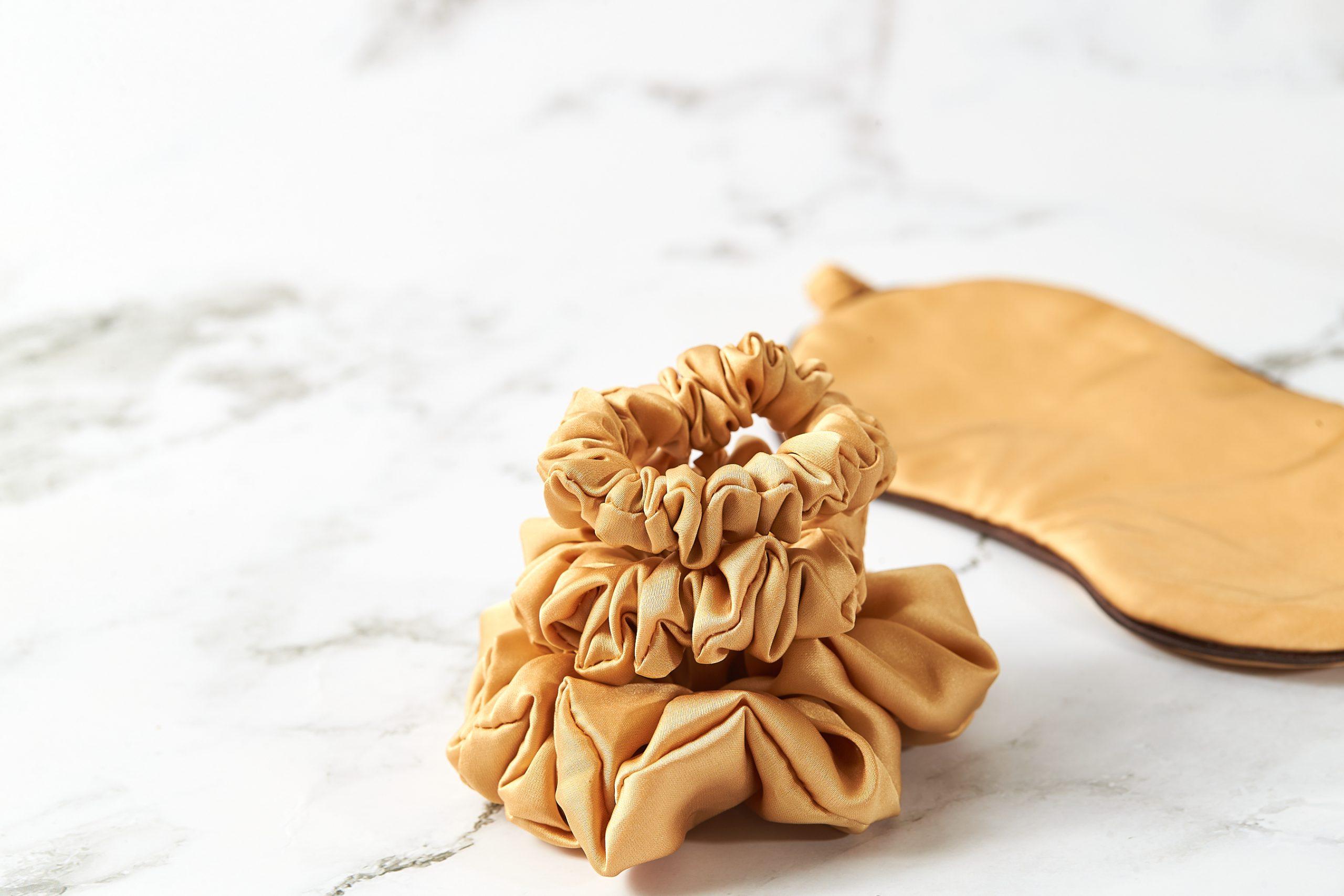 handmade saténové gumičky do vlasov